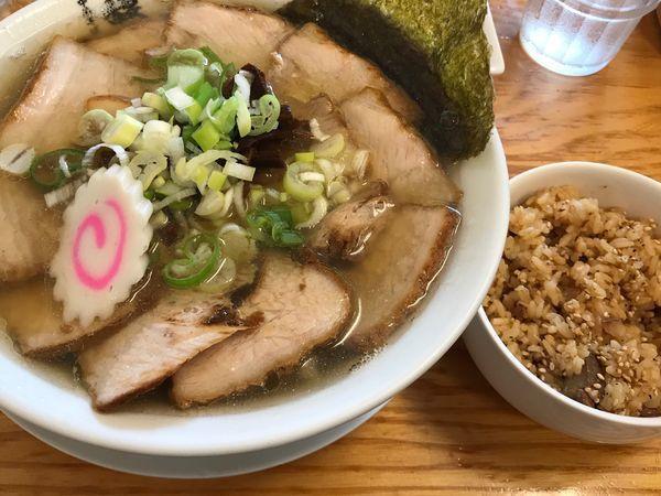 「肉そば+肉めし(ランチサービス)」@中華そば 馥の写真