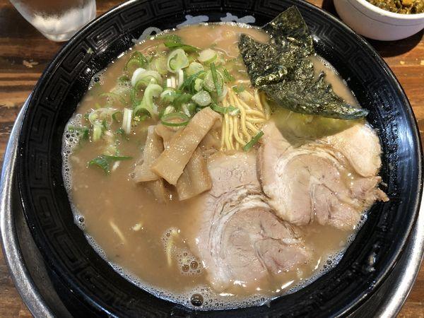 「ラーメン+辛子高菜」@風来軒 総本店の写真