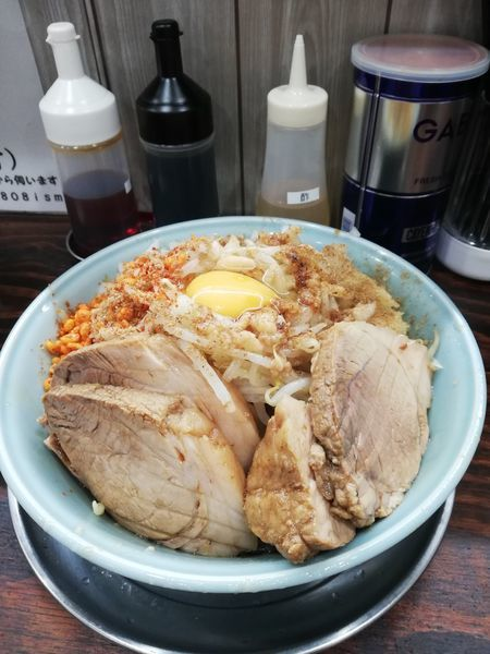 「小まぜ麺+ブタ増し 1000円」@麺でる 川崎店808ismの写真