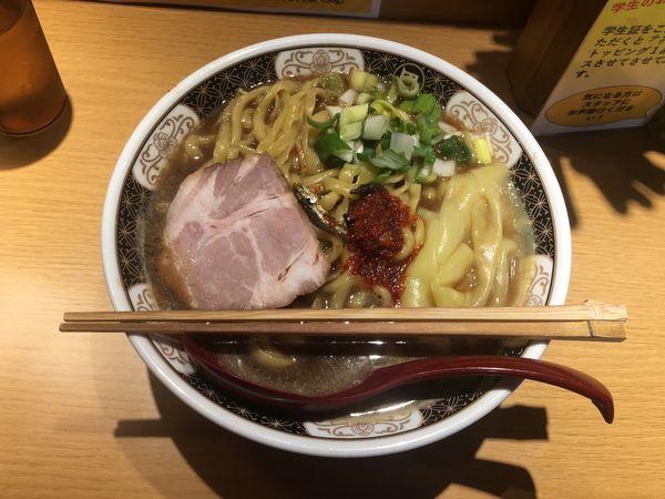 「こってり煮干ラーメン ¥820」@すごい煮干ラーメン凪 西新宿7丁目店の写真
