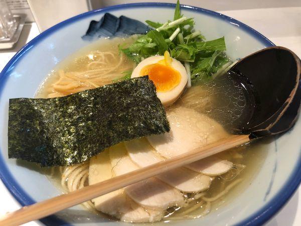 「柚子塩らーめん(淡麗・鶏チャーシュー)」@AFURI 新宿店の写真