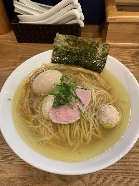 「味玉地鶏(塩)」@自家製麺 純の写真
