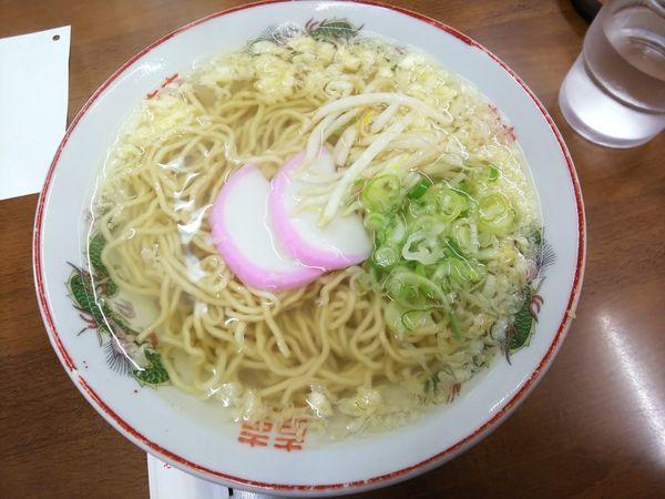 「素ラーメン 500円」@武蔵屋食堂の写真