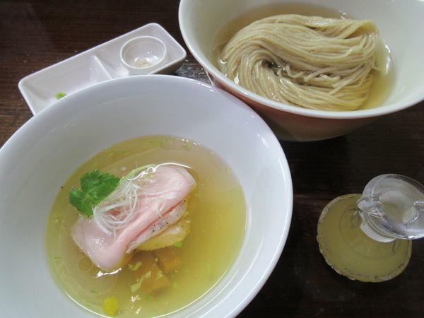 「【数量限定】とろろ昆布出汁のからませつけ麺(塩)(900円)」@らぁめん サンドの写真