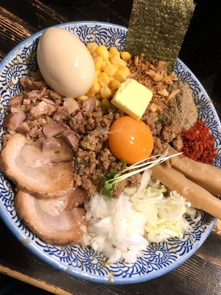 「【限定】味噌まぜそば¥1000+替玉¥100」@狼煙 〜NOROSHI〜の写真
