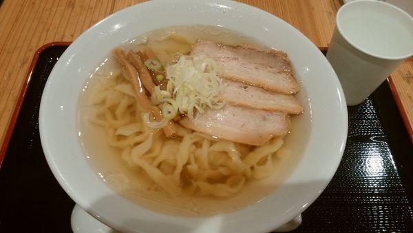 「会津山塩ラーメン+極太手打ち麺¥900-」@日本橋ふくしま館 MIDETTE ミデッテの写真