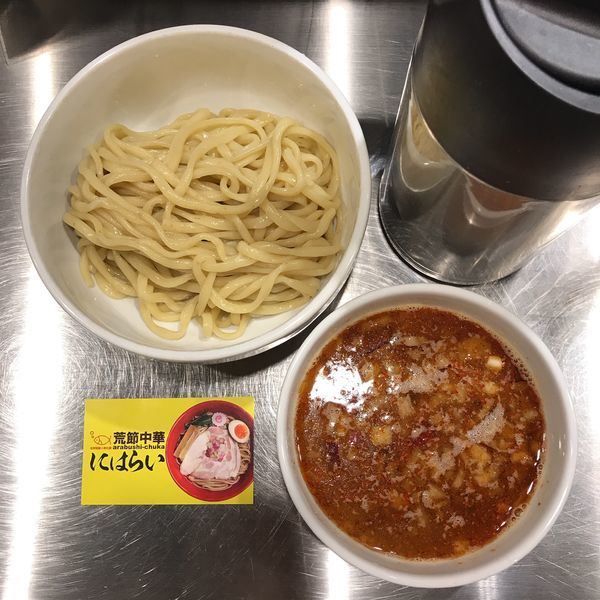 「かけ辛つけ麺」@荒節中華にはらいの写真