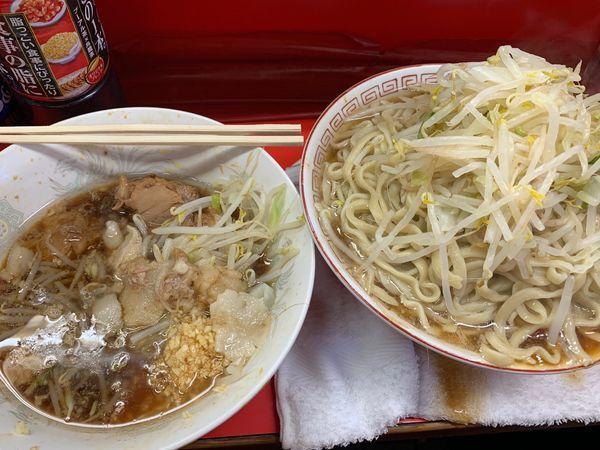 「大ラーメン麺チョイ増し」@ラーメン二郎 三田本店の写真