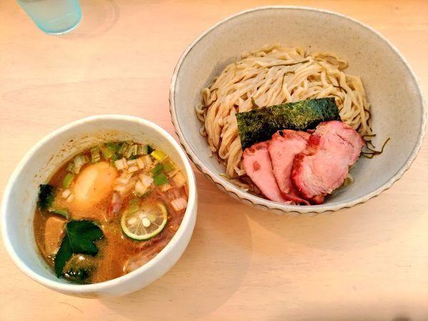 「期間限定 地鶏の醤油つけ麺」@NAGISAの写真