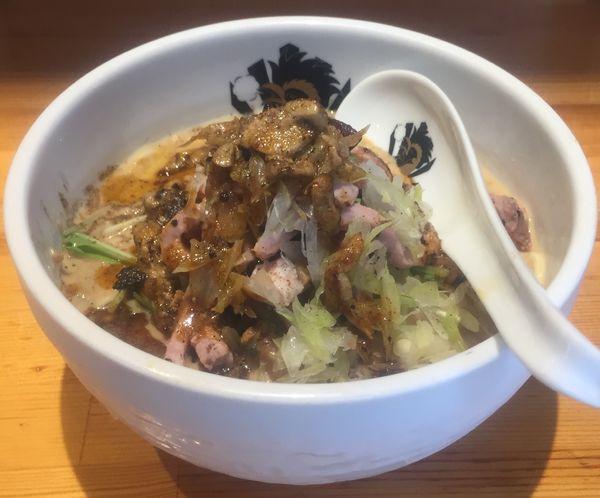 「冷やし担々麺フォアグラ辣油かけ1000円」@満鶏軒の写真