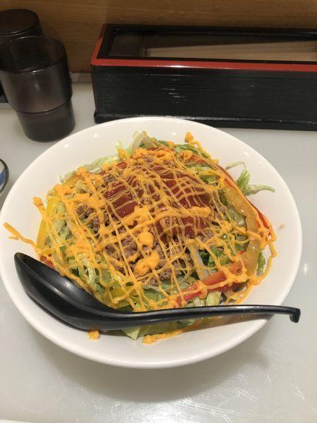 「牛肉チリトマトチーズ麺」@九州博多らーめん麺屋 悟空 立川店の写真