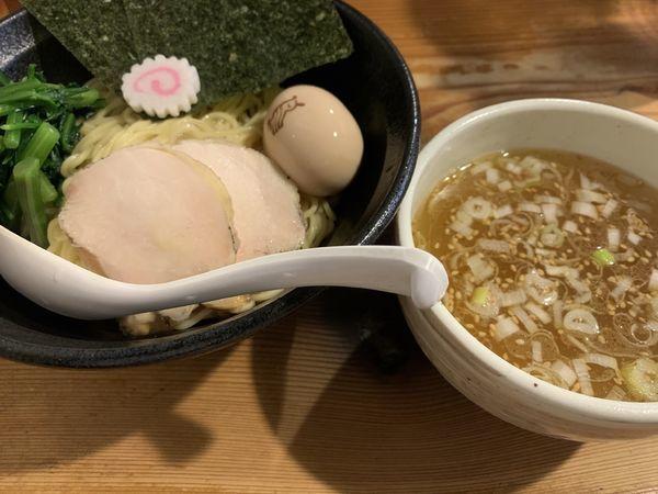 「3150 あっさり鶏塩つけ麺」@鶏の穴の写真