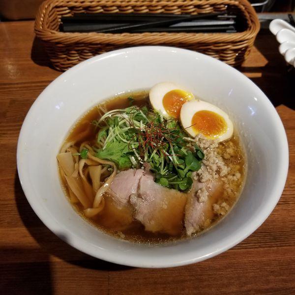 「特製くんそば醤油(大盛)」@麺屋 KEMURIの写真