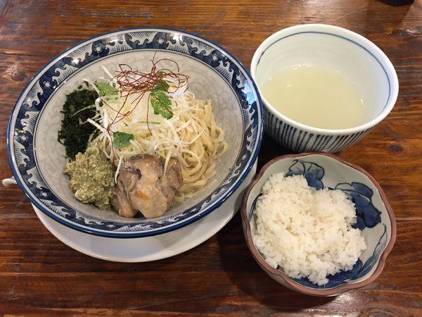 「【限定10食】牡蠣のまぜそば+割りスープ・ライスセット」@貝料理 梵厨の写真