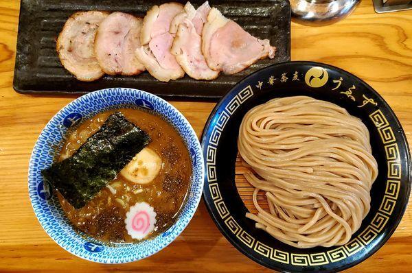 「特製つけ麺(小)+チャーシューご飯+お土産切り落としロースト」@中華蕎麦うゑずの写真