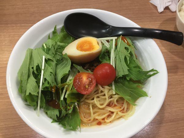 「冷やし担々麺¥690」@えび豚骨 真面目の写真