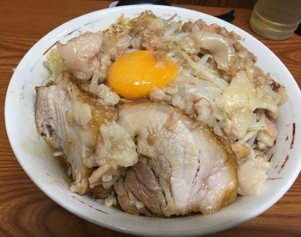 「汁なし ニンニクマシ アブラ カラメ」@ラーメン二郎 亀戸店の写真