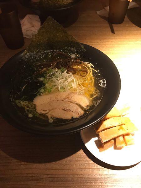 「あっさり+極太メンマ」@大澤麺工房 一葵の写真