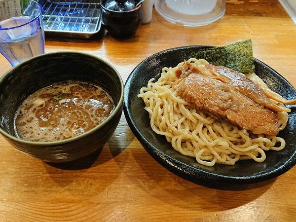 「つけ麺、でかい角煮」@麺屋 土竜の写真