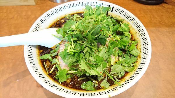 「スパイス・パクチーラー麺」@スパイス・ラー麺 卍力 秋葉原店の写真