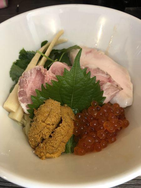 「【限定】北海道産生ウニ・イクラのまぜそば¥980」@麺匠えにしの写真