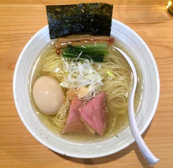 「アサヒプレミアム熟撰 → 味玉らぁ麺(塩)」@麺屋 さくら井の写真