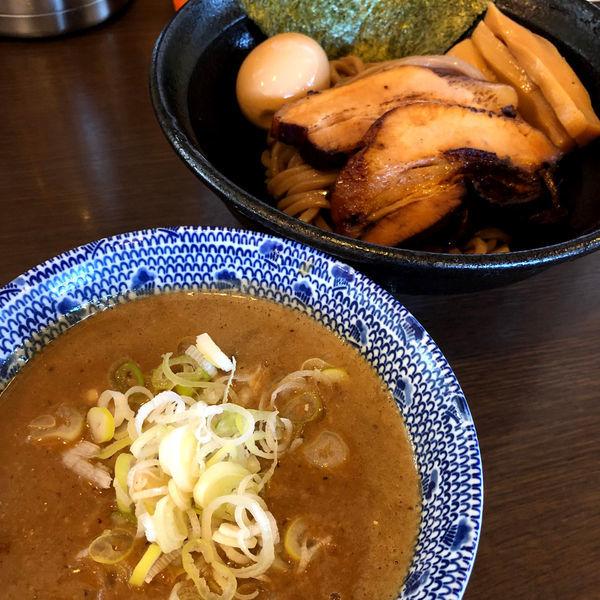 「特製つけ麺(麺少なめ)1050円」@つけ麺 弥七の写真