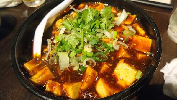 「特製冷やし刀削麺、麻婆麺」@刀削麺 張家 麹町店の写真