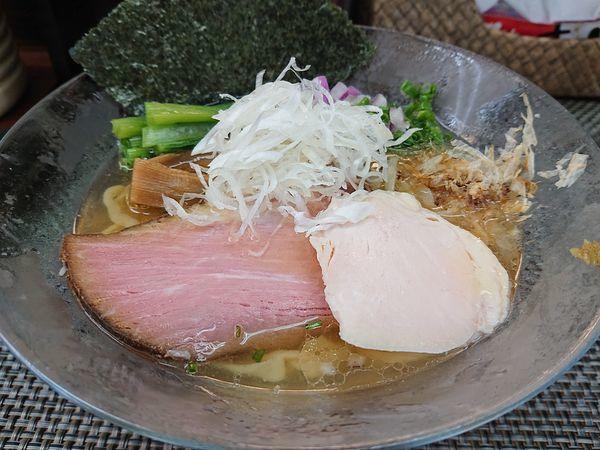 「【限定】鯵とイタヤ貝の冷やし手もみ麺」@麺や 睡蓮の写真