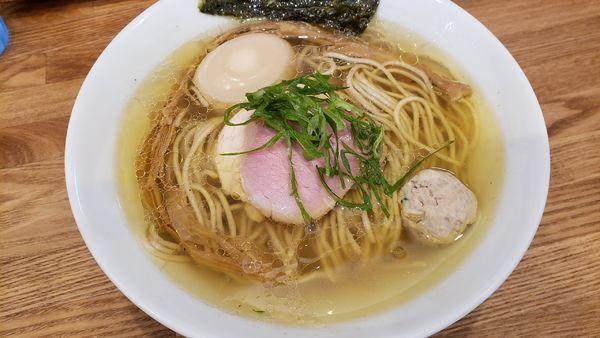 「味玉地鶏 塩」@自家製麺 純の写真