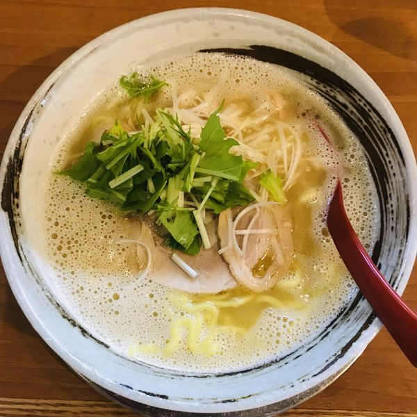 「鶏白湯ラーメン あってり」@栄昇らーめんの写真