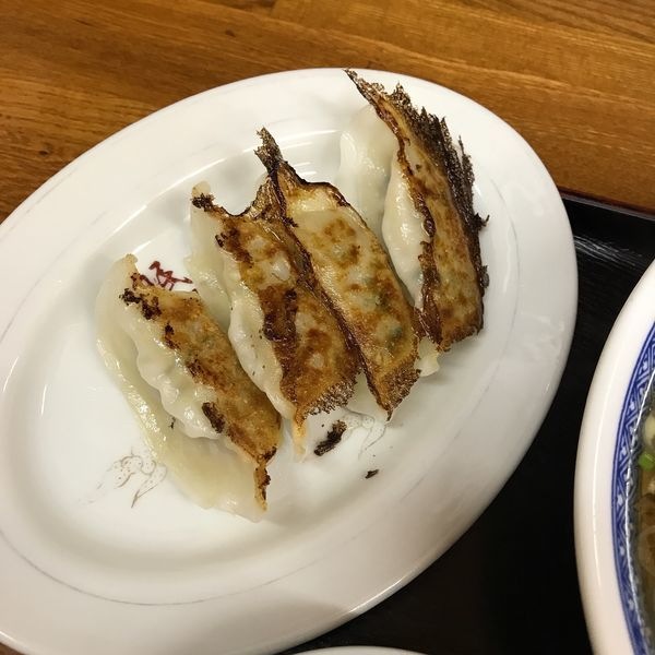 「餃子4個(ラーメン定食)」@中華洋食 珉珉の写真