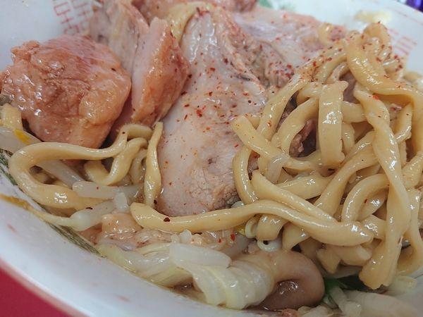 「汁なし 豚ダブル」@ラーメン二郎 環七一之江店の写真