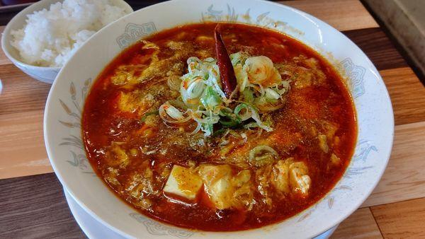 「豆腐マーラー麺&半ライス」@ラーメン餃子 なか屋の写真