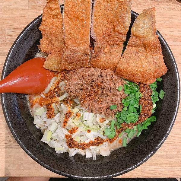 「パーコーごま麺+半ライス(サービス)」@ごま麺 鉢と棒の写真