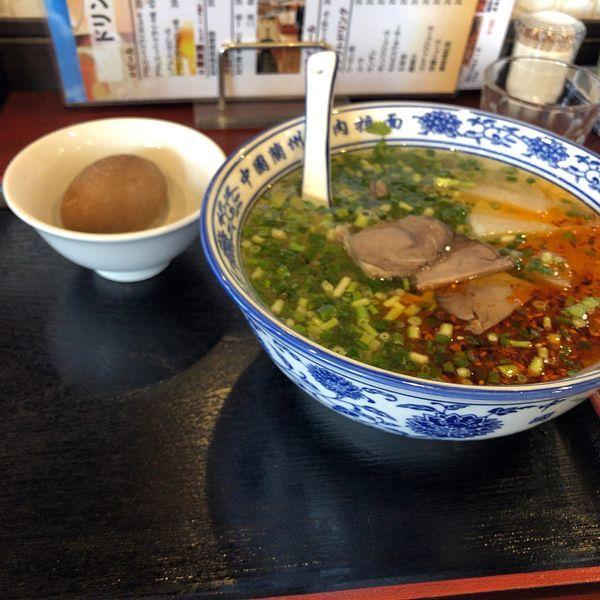 「蘭州牛肉麺(880円)」@味香園 蘭州牛肉麺 西川口店の写真