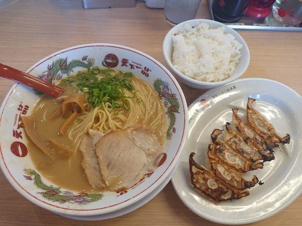 「ギョウザ定食(こってり)」@天下一品 三郷店の写真