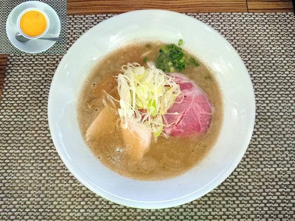 「濃厚塩ラーメン+マンゴープリン」@つけ麺 和の写真