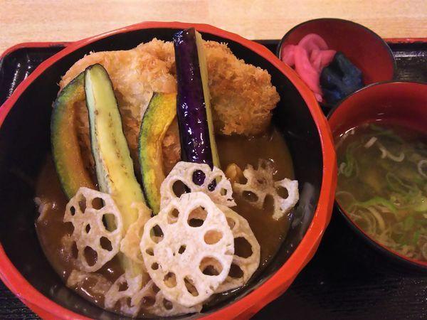 「カツカレー丼¥650」@北橘温泉 ばんどうの湯の写真