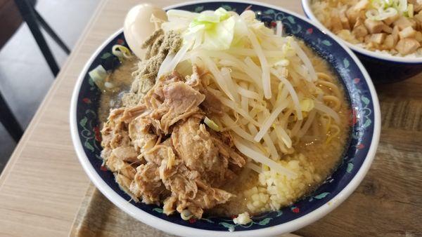 「ニボジロー 麺大盛 味玉トッピング」@凌駕IDEA イオンモール松本店の写真
