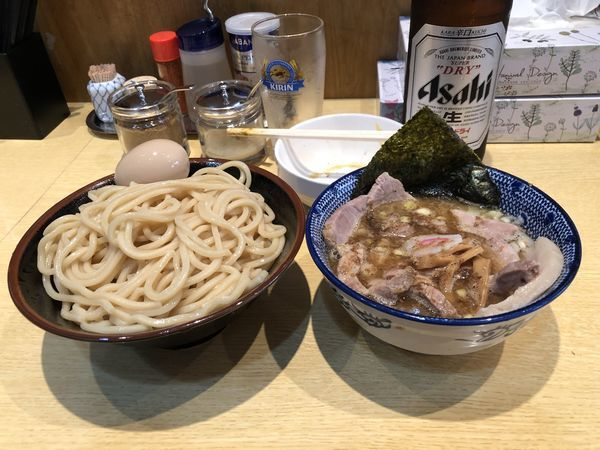 「つけチャーシュー+ビール」@くり山の写真