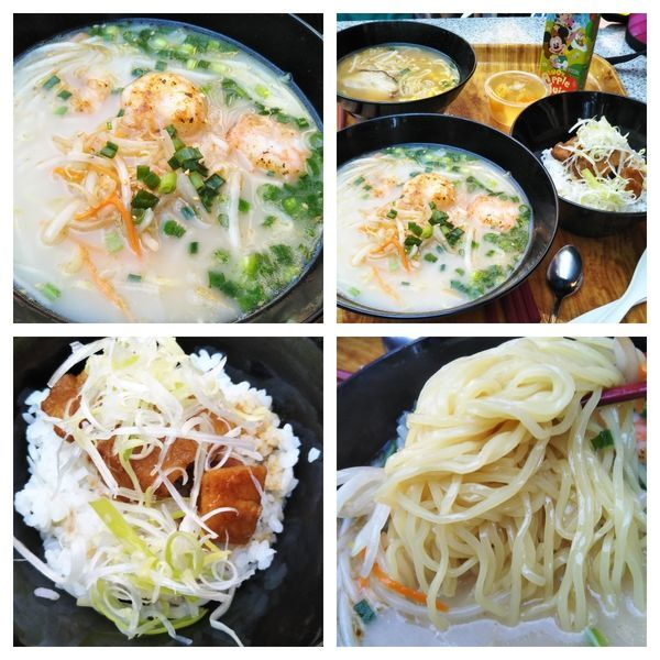 「海老入り白湯麺(塩)+豚角煮ご飯」@China Voyagerの写真