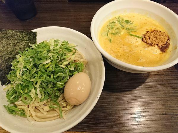 「鶏白湯つけ麺+味玉、青ネギ(980円)」@鶏そば 一瑳の写真