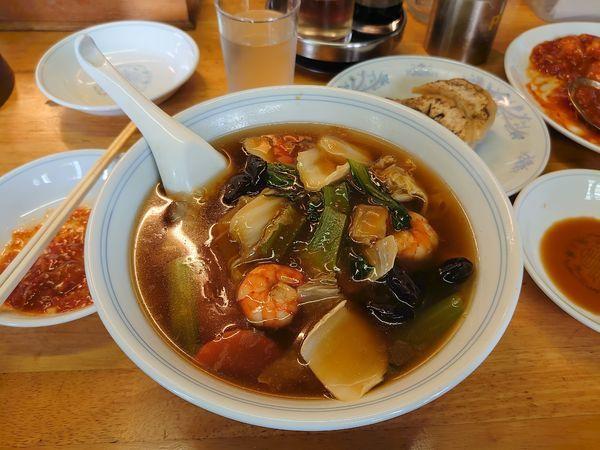 「広東麺」@観富亭の写真