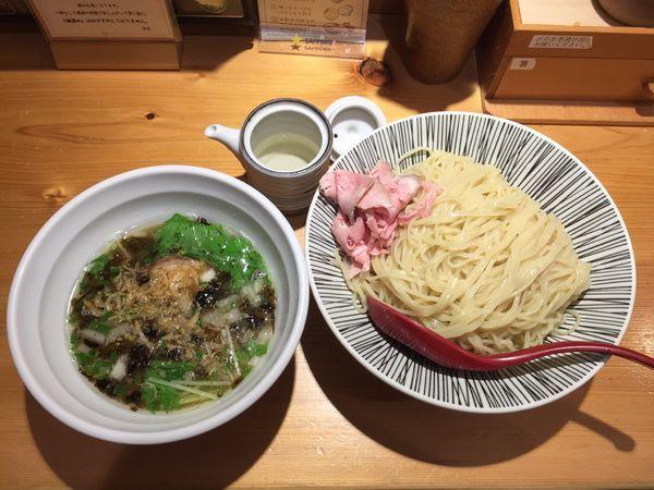 「塩つけ麺 中盛」@焼きあご塩らー麺 たかはし 上野店の写真