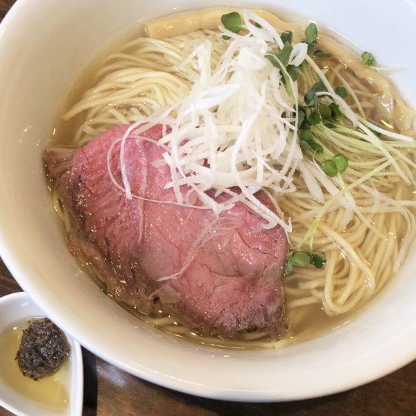 「常陸牛そば(塩:大盛)+トリュフオイル〜タルトゥファータ〜」@活龍 期間限定麺処 みつきの写真