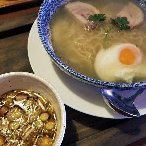 「エーデルワイスつけ麺(サラダ+ドリンク付) ¥1000+税」@レストラン エーデルワイスの写真