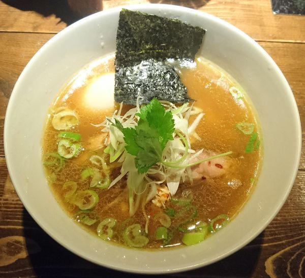 「鶏そば(醤油)+味玉」@神田とりそば なな蓮の写真