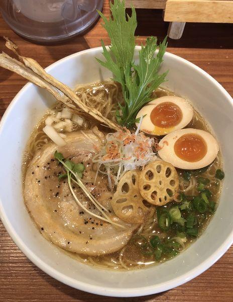 「魚だしらぁ麺780円」@ふじ門製麺の写真