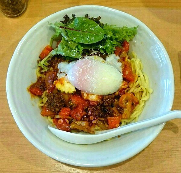 「真ダコとトマトの麻辣ボロネーゼ【秋季限定】 パクチー」@中華蕎麦 はるの写真